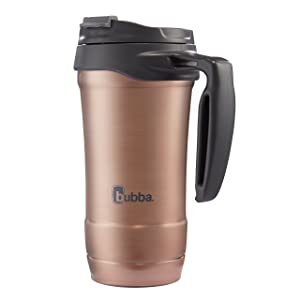 Bubba HERO Vacuum-Insulated Stainless Steel Travel Mug with Handle, 18 oz, Rose Gold