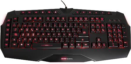 Mars Gaming MK2 - Teclado gaming para PC (diseñado para durar y rendir, retroiluminado 3 colores, pulsación optimizada, capacidad anti-ghosting), ...