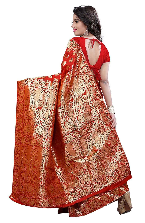 Zari Ethnique Indian Mode Travail Avec Saris Swara Femmes Sari 54RLjA