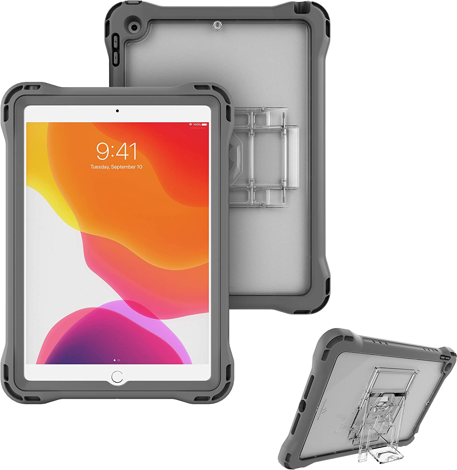 Brenthaven Edge 360 Case Designed for The Apple iPad 10.2 8g and 7g (2021) for School and Office Use - Durable, Rugged Protection with Stand and Screen Shield (Pen Holder Sold Separately)