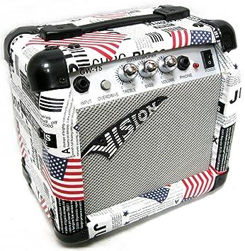Amplificador guitarra eléctrica Design USA 15 watts con distorsión ...