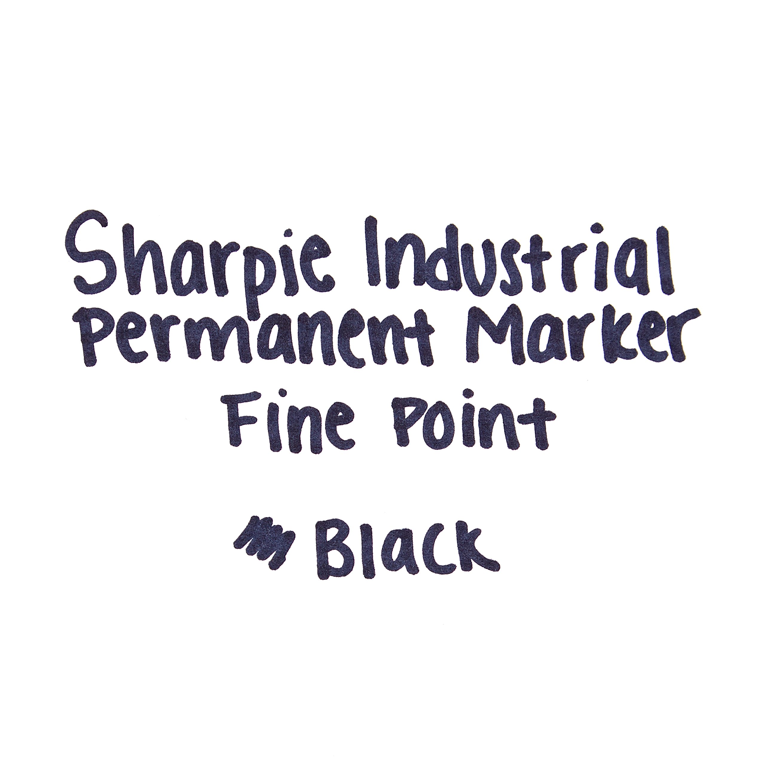 Sharpie Industrial Permanent Markers, Fine Tip, Black, 36 Count by Sharpie (Image #5)