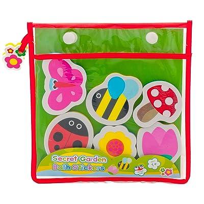 Great Gizmos Meadow Kids Secret Garden Bath Stickers : Baby