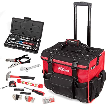 HyperTough 174-Piece Tool Set with Trolley Bag by Hyper Tough