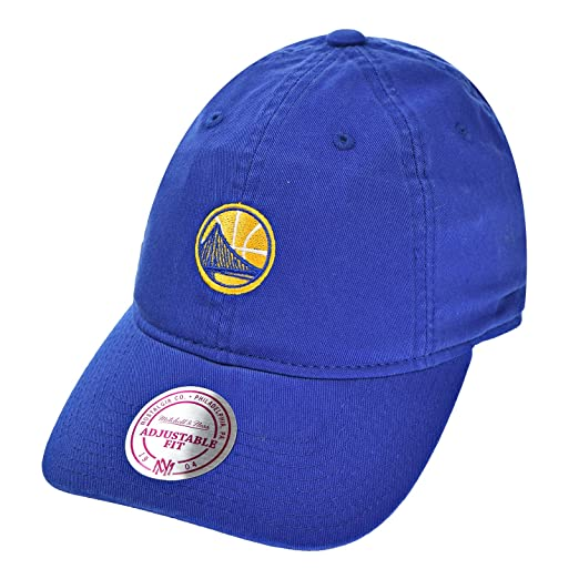 876fab80227 Golden State Warriors NBA Mitchell   Ness Cotton Adjustable Cap Blue ...