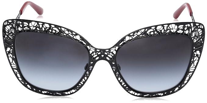 6c4b649e241a DOLCE & GABBANA Women's 0DG2164 01/8G 56 Sunglasses, Black/Gradient:  Amazon.co.uk: Clothing