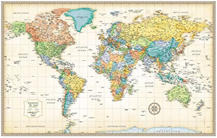 Buy total homerand mcnally world map50 32 classic edition total homerand mcnally world map50quot 32 quot gumiabroncs Images