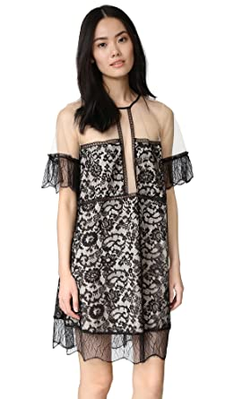 c52fb868161d9 KENDALL + KYLIE Women's Paneled Lace Babydoll Dress - Black ...