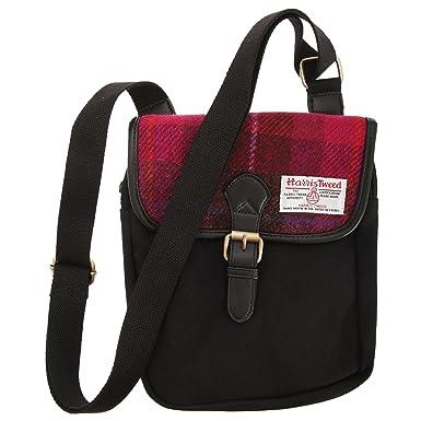 66f914c8a21e Harris Tweed Authentic Premium Buckle Up Shoulder Messenger Bag (One Size)  (Cerise
