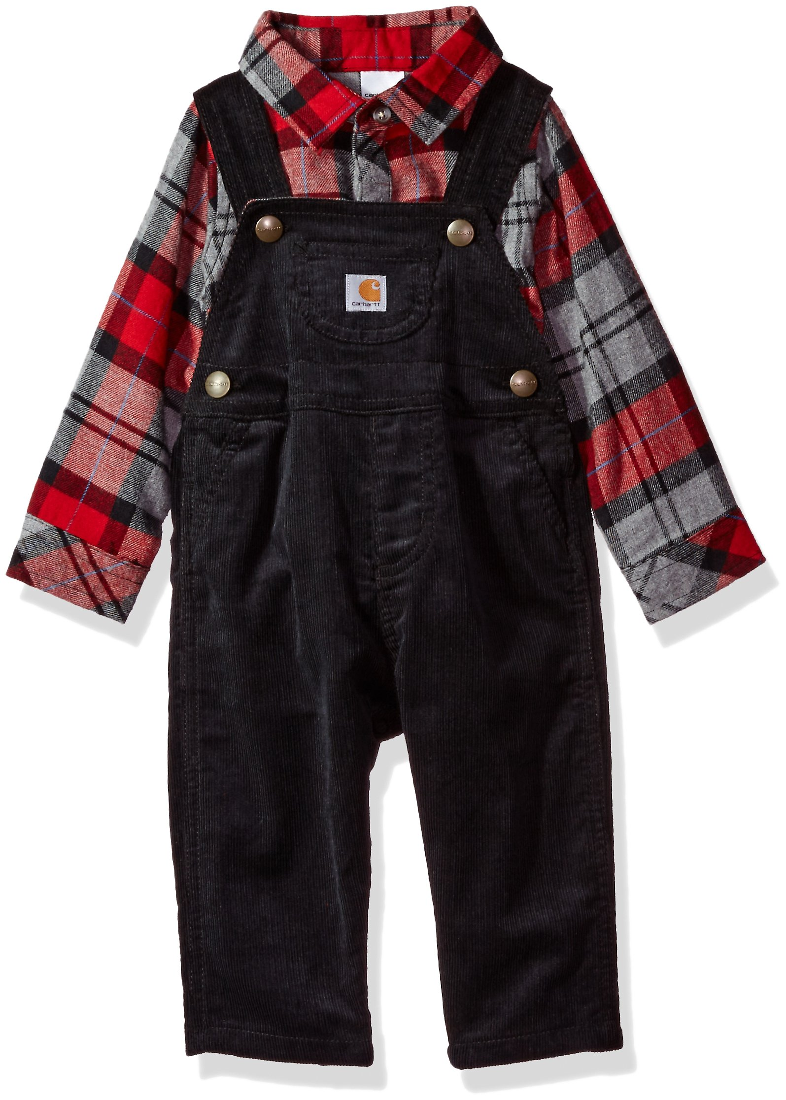 6da3960ef Carhartt Baby Boys' Little Sets, Caviar Black/Red, 24M - CG8672 ...