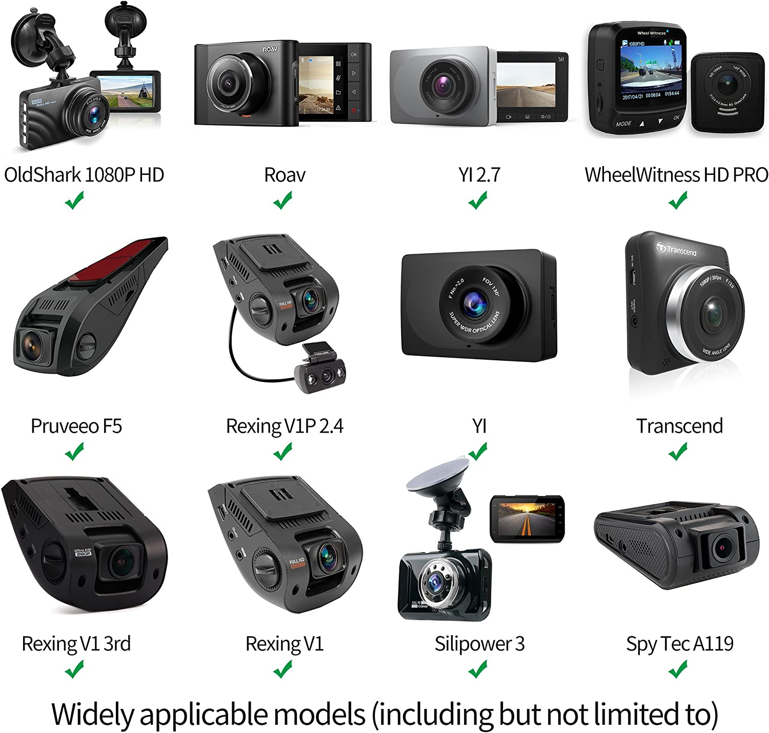 KDLINKS X1 YI Nightscape Dash Cam Mirror Mount for YI 2.7 UGSHD Rexing V1 Fit for 99/% Dash Cam//DVR AUKEY Z-Edge Crosstour and Most Other Dash Camera Old Shark
