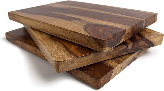 Amazon Com Architec Gripperwood Shesham Cutting Board 10 X 15 Sheesham Wood Natural Color Wood Cutting Board Kitchen Dining