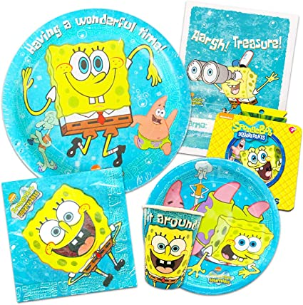 Amazon.com: Esponja Bob Squarepants Party Supplies Ultimate ...