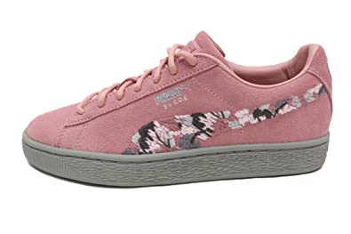 cheap for discount 1b56c c5584 Amazon.com   PUMA Suede Sunfade Womens in Pebble/Birch by ...