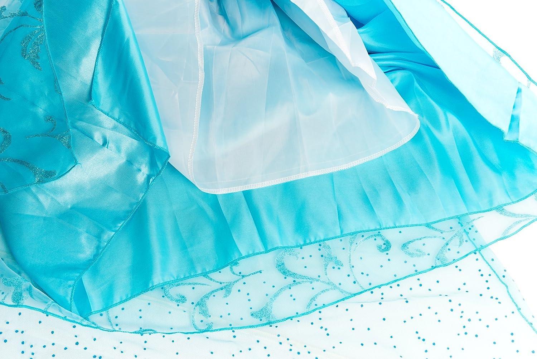 IT-SEP302, 7-8 Anni ELSA /& ANNA/® Ragazze Principessa abiti partito Vestito Costume IT-Dress-SEP302