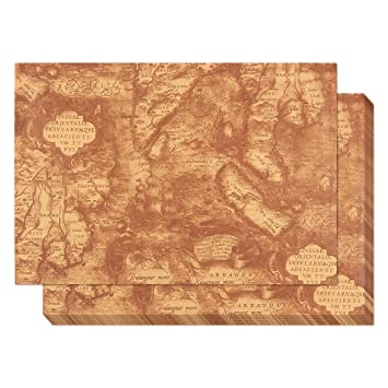 Amazon kraft paper roll 12 pack packing paper nautical kraft paper roll 12 pack packing paper nautical antique world map theme brown gumiabroncs Gallery