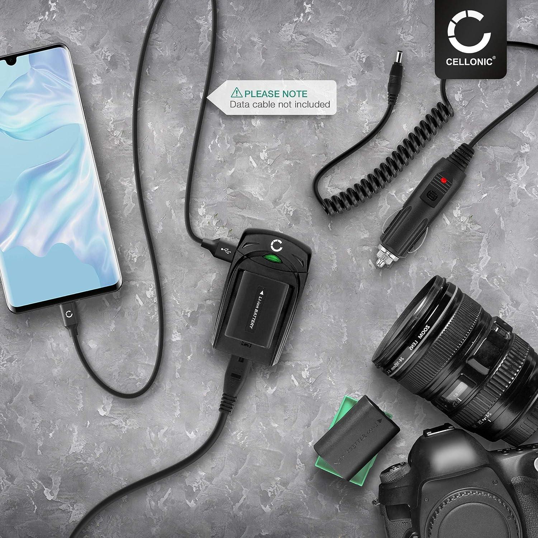 CELLONIC/® Chargeur BJ-7 // DC-DC6 compatible avec Ricoh Caplio CX1 Caplio R8 Caplio R6 Caplio R10 Caplio R7 Caplio CX2 compatible avec Leica C-Lux 2 C-Lux 3 DB-70,BP-DC6 Alimentation c/âble charge voiture adaptateur secteur
