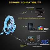 PS4 Gaming Headset ONIKUMA K1 PC Gamer Stereo Wired Over Ear Noise Cancelling Headphones with Microphone, Volume Control for Nintendo Switch Playstation 4 New Xbox One Laptop Tablet Mobile Phone