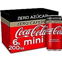 Coca-Cola Zero Azucar Zero cafeïne - Cola verfrissing zonder suiker, zonder calorieën, zonder cafeïne - verpakking met 6…