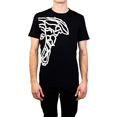 42d5bc4e Amazon.com: Versace Collection Men's Cotton 'Tape' Medusa Graphic T ...