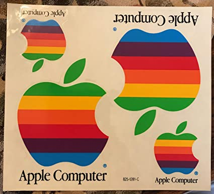 Amazon com: Apple Logo Original Vintage Rainbow Sticker