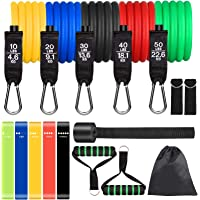 POWAITER Resistance Bands Set 16PCS Exercise Band for Working Out Up to 150 lbs, for Indoor and Outdoor Sports, Fitness…
