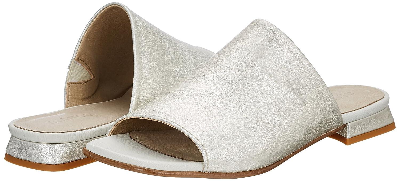 Bianco Damen Flat Dress Mule Offene Sandalen, Silber (Silver), 36 EU
