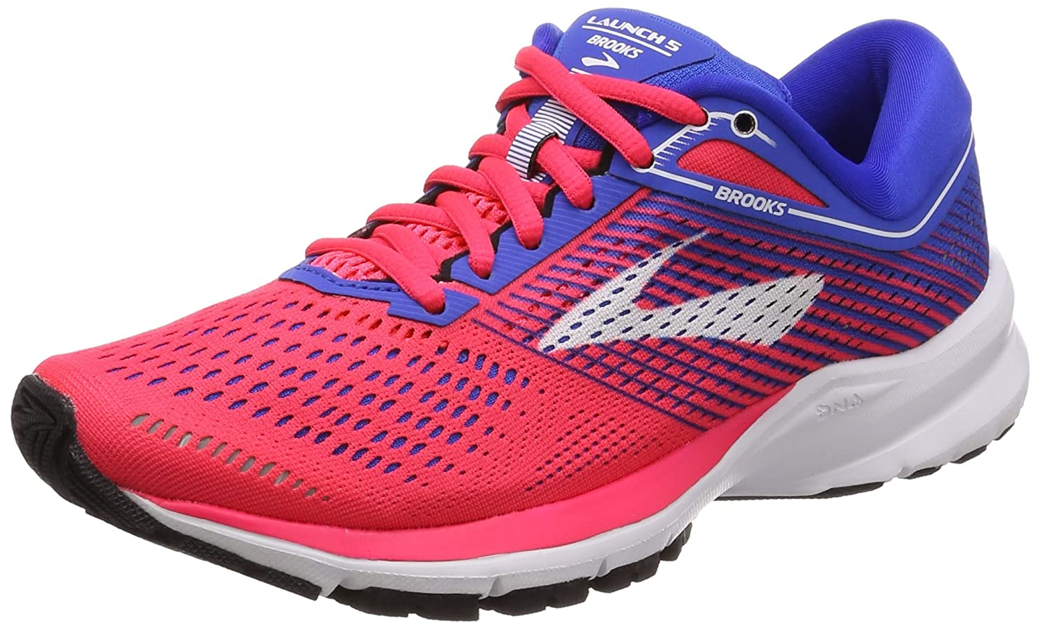 Brooks Womens Launch 5 B071VKHH3V 8 B(M) US|Pink/Blue/White
