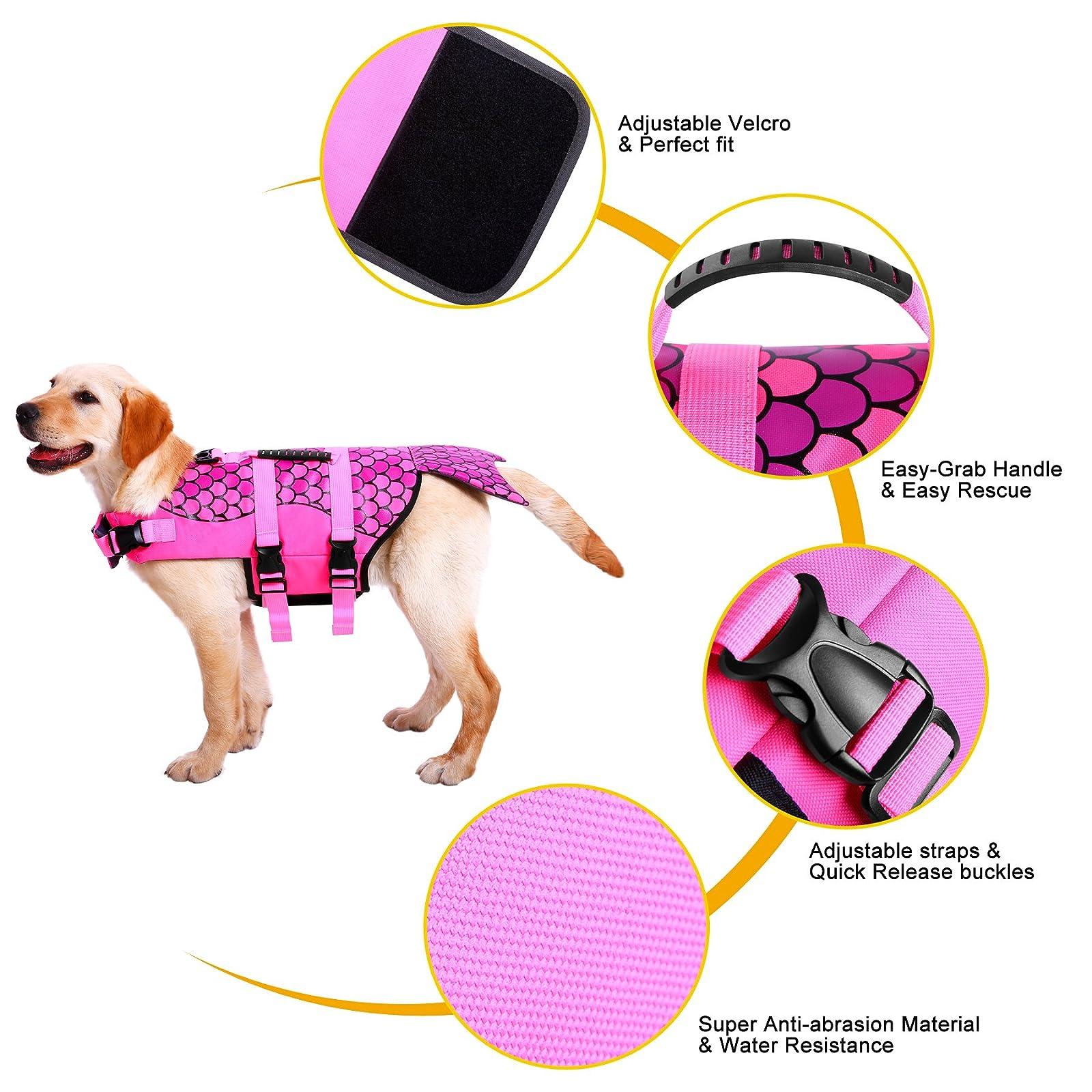 Queenmore Dog Life Jacket Ripstop Lifesaver Coat - 4