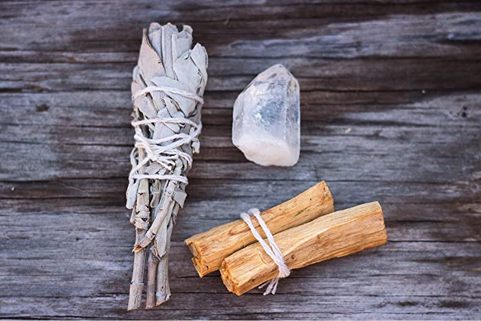 Amazon com: Spiritual Cleansing Kit with Mini White Sacred Sage