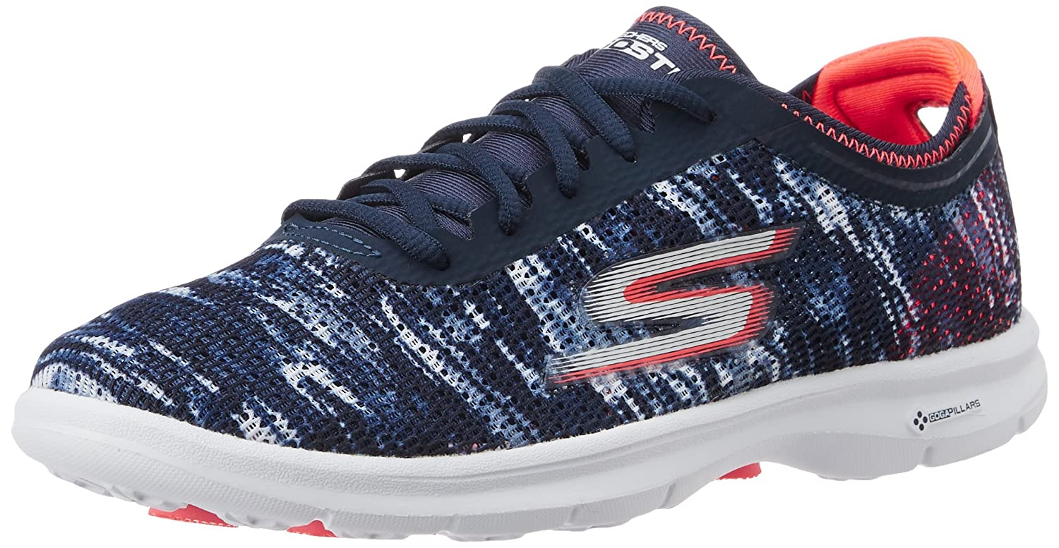 Navy Coral Skechers Performance Women's Go Step Lace-Up Walking shoes