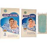 Cooling Gel Patch for Relief Migraine, Headache, Fever, Muscle Ache, Sprains, Hot Flash and Heat Discomfort Anywhere and Anytime Great for Children and Adults -4 Patches