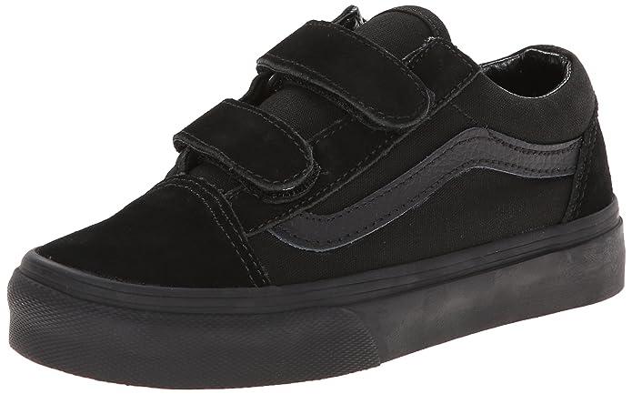 Vans OLD SKOOL V Unisex-Kinder Sneakers Schwarz/Schwarz (Blk/Blk Enr)