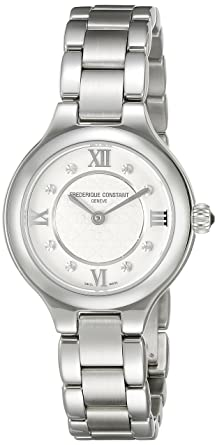 Frederique Constant Womens FC200WHD1ER36B Delight Analog Display Swiss Quartz Silver Watch