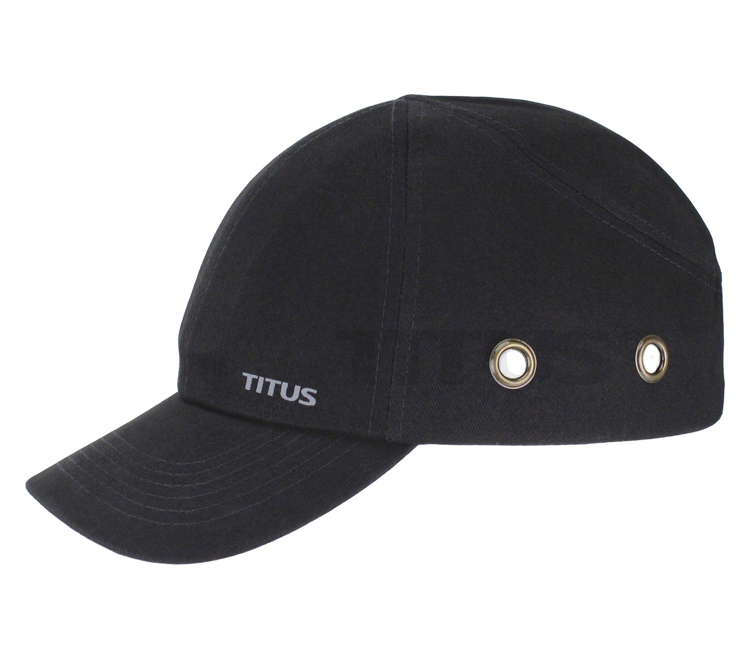 Titus Lightweight Safety Bump Cap - Baseball Style Protective Hat (Black)