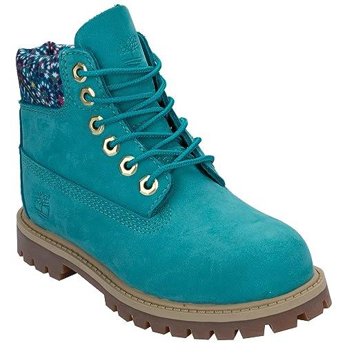 Timberland - Botas para niña Verde Azul