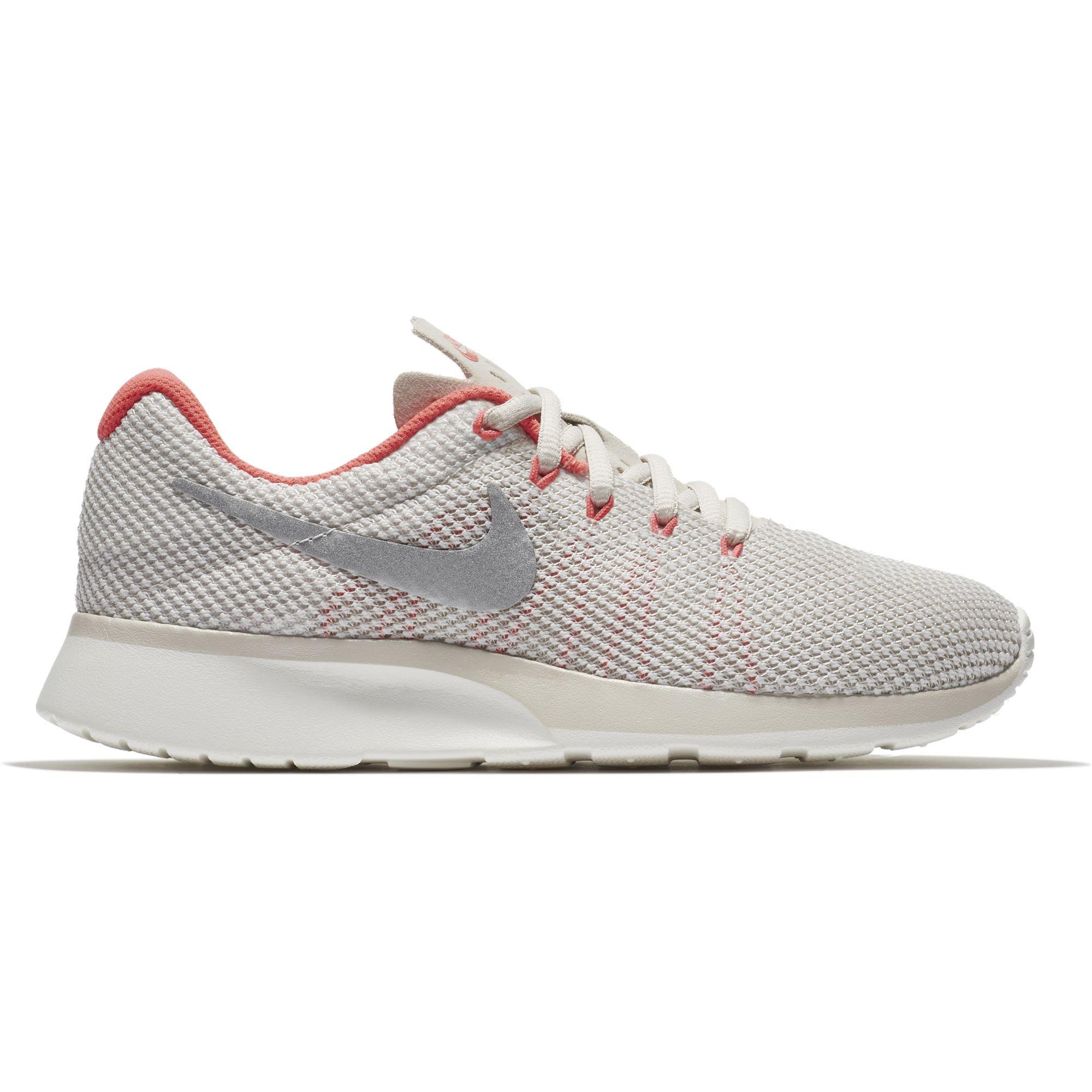 Nike Women's Tanjun Racer Running Shoe LT Orewood Brn/Chrom-Sail-Solar Red 9