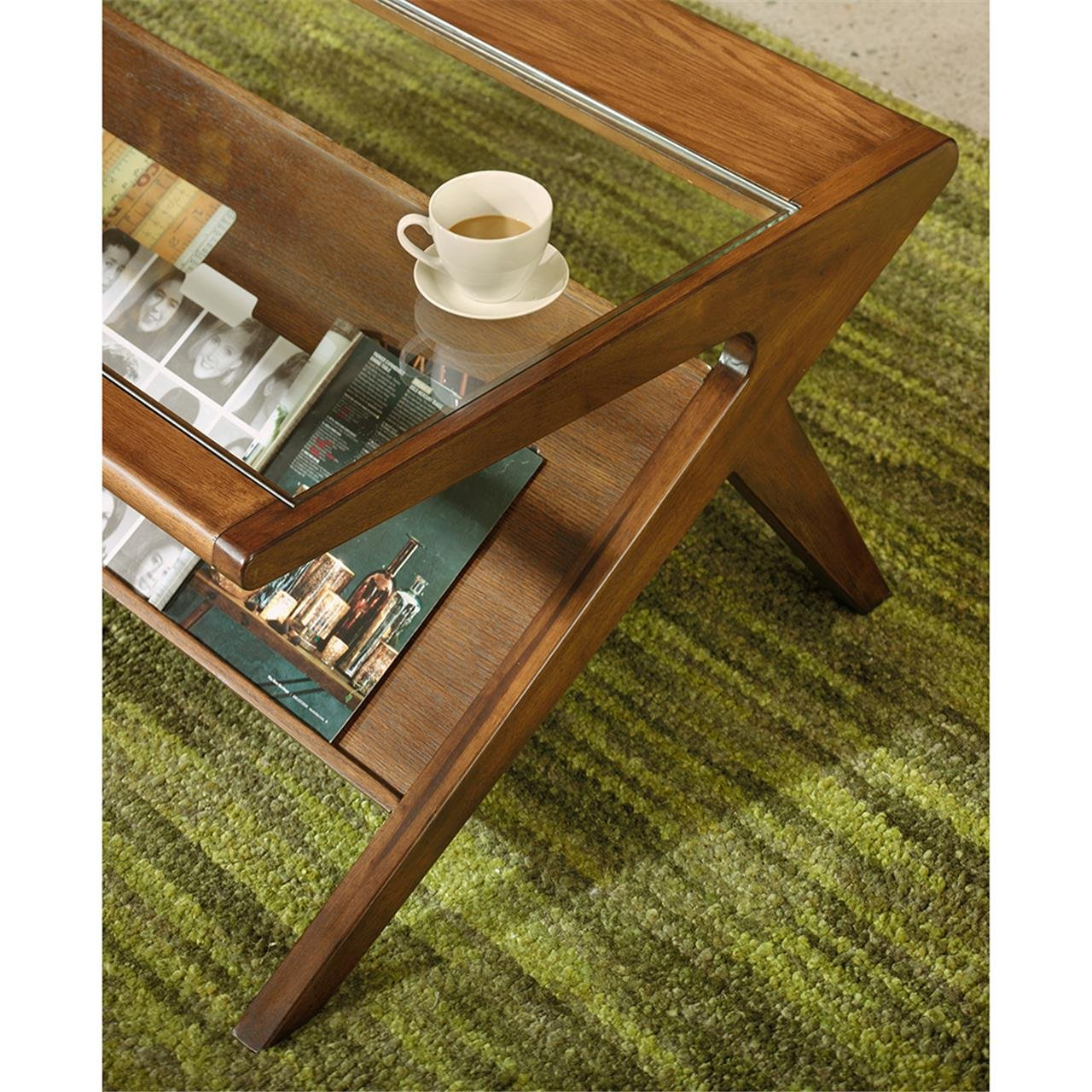 wood handmade modern mid coffee century table walnut mod solid products