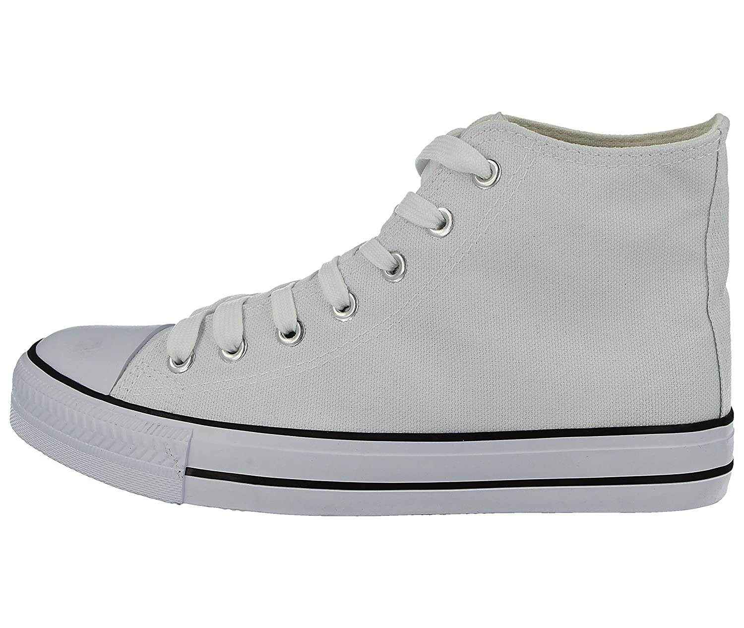 f429b1ba531 Mens Baltimore Academy Low Top Hi Top Canvas Toe Cap Lace Up Pumps Plimsoll  All Star Trainers Casual Shoes Size 6-12  Amazon.co.uk  Shoes   Bags