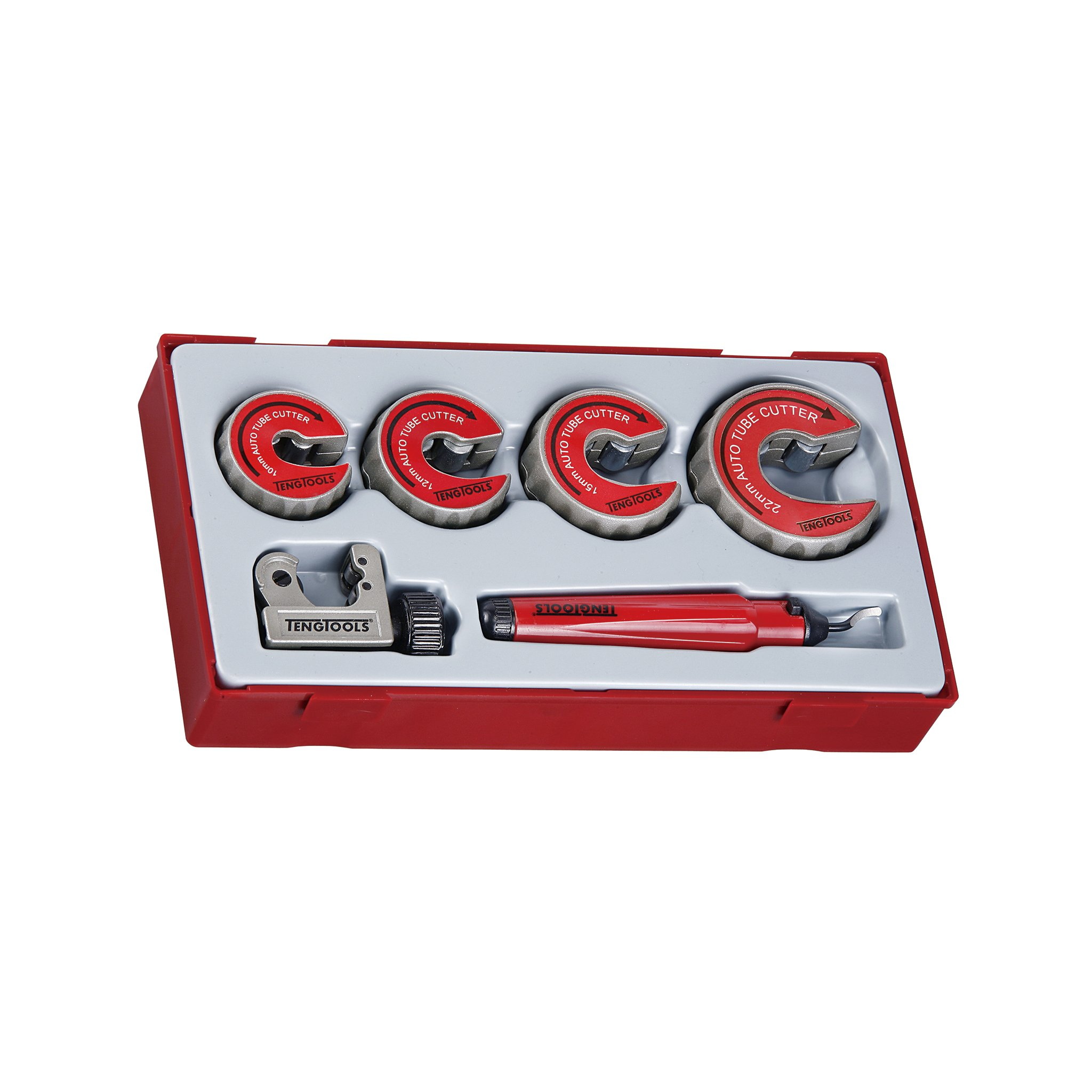 Teng Tools - 6 Piece Pipe Cutter and Deburring Set - TTTC06