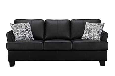 Amazoncom Pilaster Designs Faux Leather Sofa Hide A Bed Sleeper