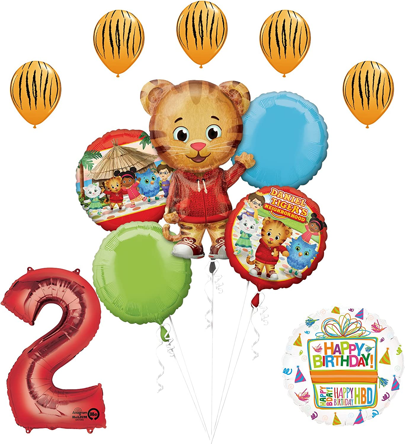 The Ultimate Daniel Tiger Neighborhood 5th Birthday Party Supplies and Balloon Decorations