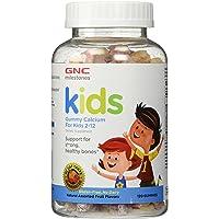 GNC Milestones Kids Bone Health Gummy, Assorted Fruit Flavors, 120 Gummies, Supports Strong, Healthy Bones