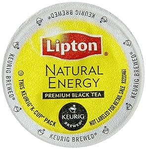 Keurig, Lipton Natural Energy Black Tea, K-Cup packs, 48-Count