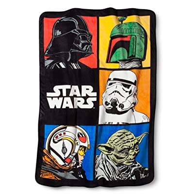 Jay Franco Star Wars Classic Grid Blanket: Home & Kitchen