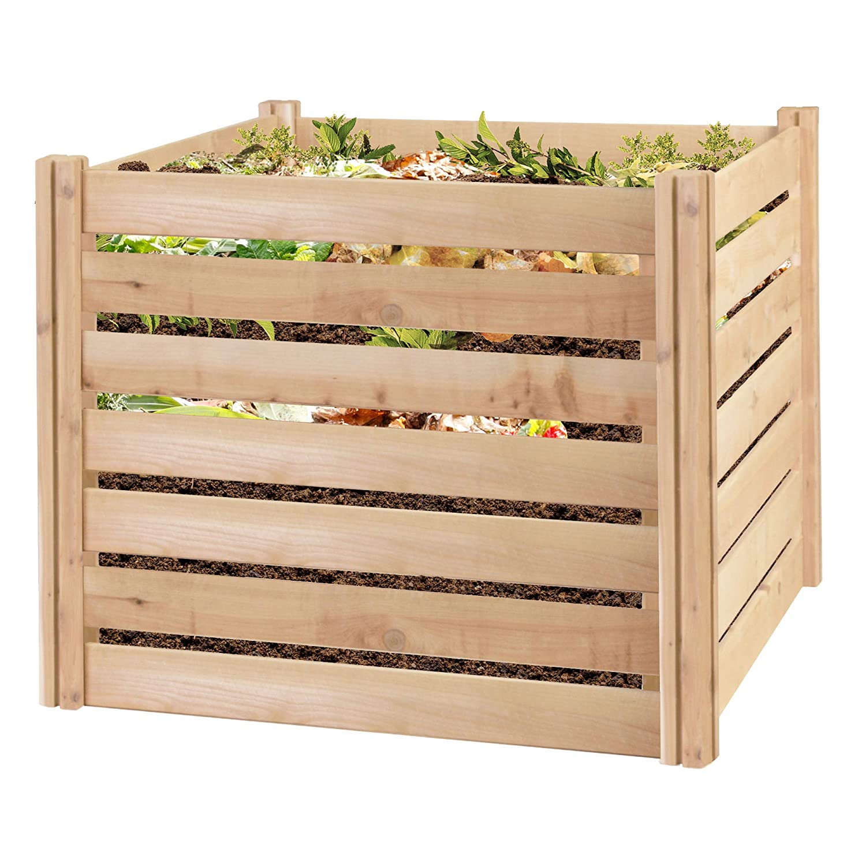 Greenes Fence RCCOMP48 Cedar Wood Composter, 48 L x 48 W x 31 H 309.17 gallons