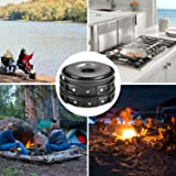 Flexzion Camping Cookware Mess Kit Compact 10pc