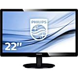 "Philips 223V5LSB2 Monitor 22"" LED, Full HD, 1920 x 1080, 5 ms, VGA, Attacco VESA, Nero"