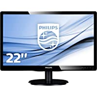 "Philips Monitor 223V5LSB2 Monitor per PC Desktop 22"" LED, Full HD, 1920 x 1080, 5 ms, VGA, Attacco VESA, Nero"