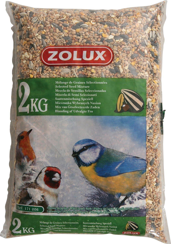 ZOLUX Granos para las aves de jardín Kg. 2 alimento para las aves